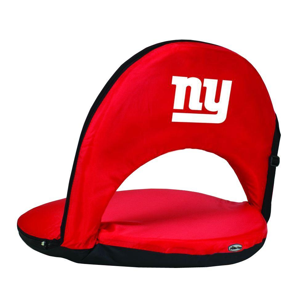 Oniva New York Giants Red Patio Sports Chair with Digital Logo