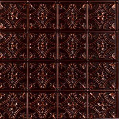 Gothic Reims 2 ft. x 2 ft. Glue-up Ceiling Tile in Antique Copper (100 sq. ft. / case)