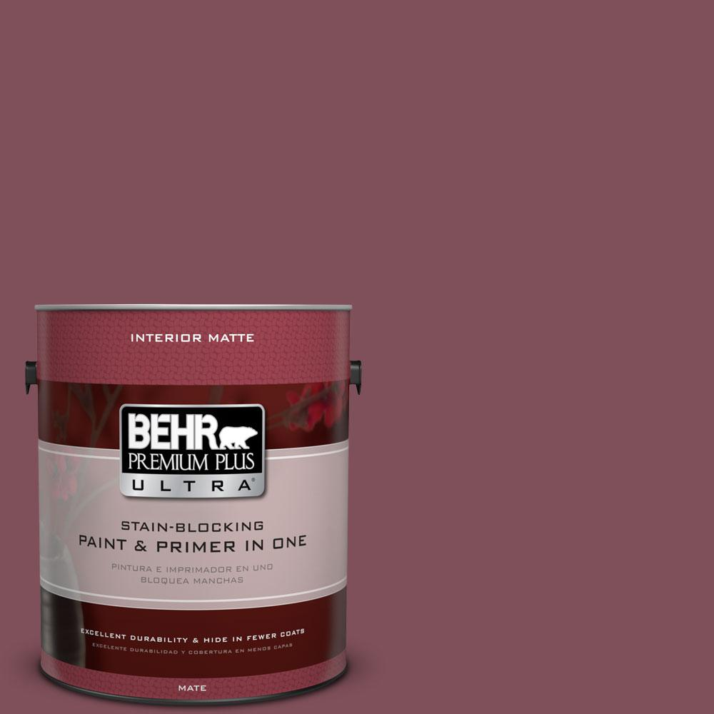 BEHR Premium Plus Ultra Home Decorators Collection 1 gal. #HDC-CL-02 Fine Burgundy Flat/Matte Interior Paint