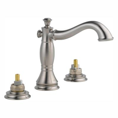 Cassidy 8 in. Widespread 2-Handle Bathroom Faucet with Metal Drain Assembly in Stainless (Handles Not Included)