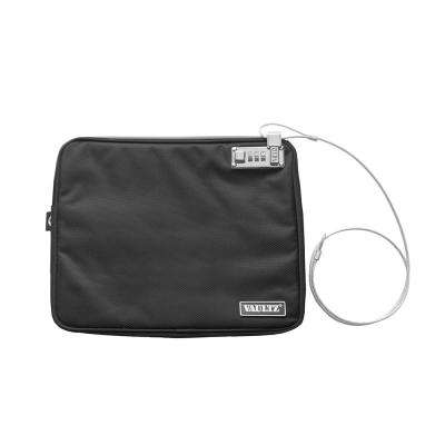 Locking Water-Resistant Field Pouch with Tether, XX Large, Black