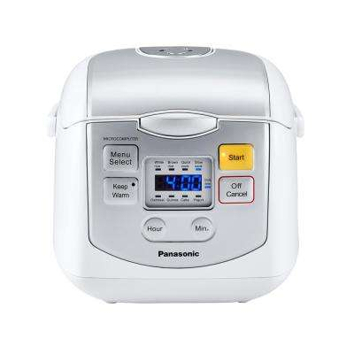 8-Cup Microcomputer Controlled Rice Cooker in White
