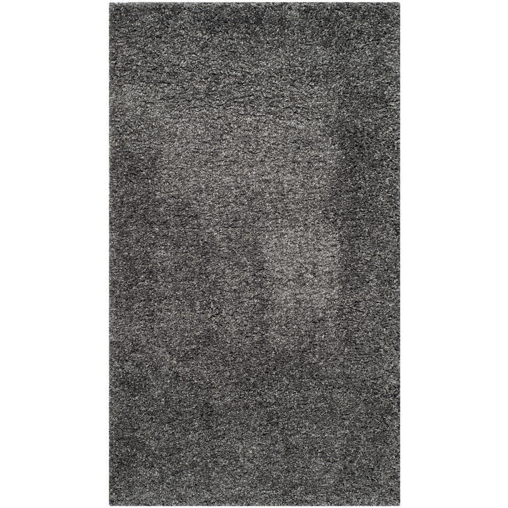 California Shag Dark Gray 4 ft. x 6 ft. Area Rug
