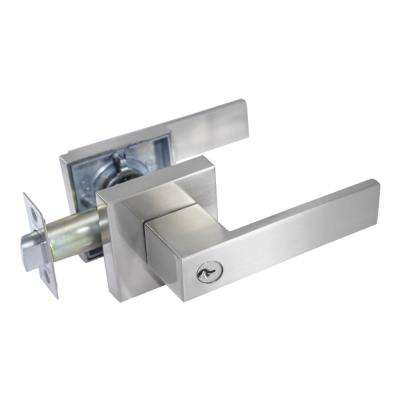 Lisabon Premium Satin Nickel Keyed Entry Door Lever
