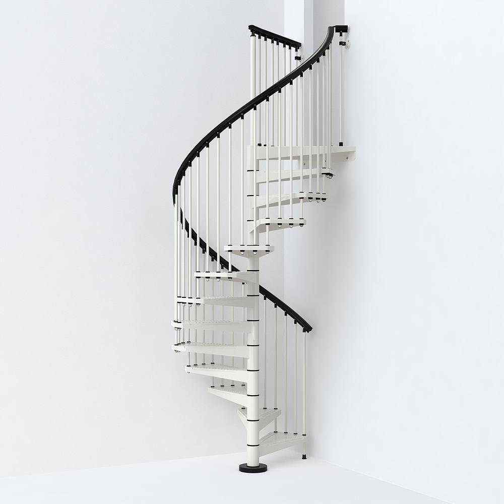 SKY030 55 in. White Spiral Staircase Kit