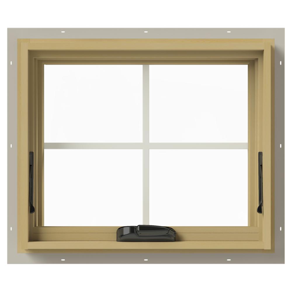 JELD-WEN 24 in. x 20 in. W-2500 Awning Aluminum Clad Wood Window