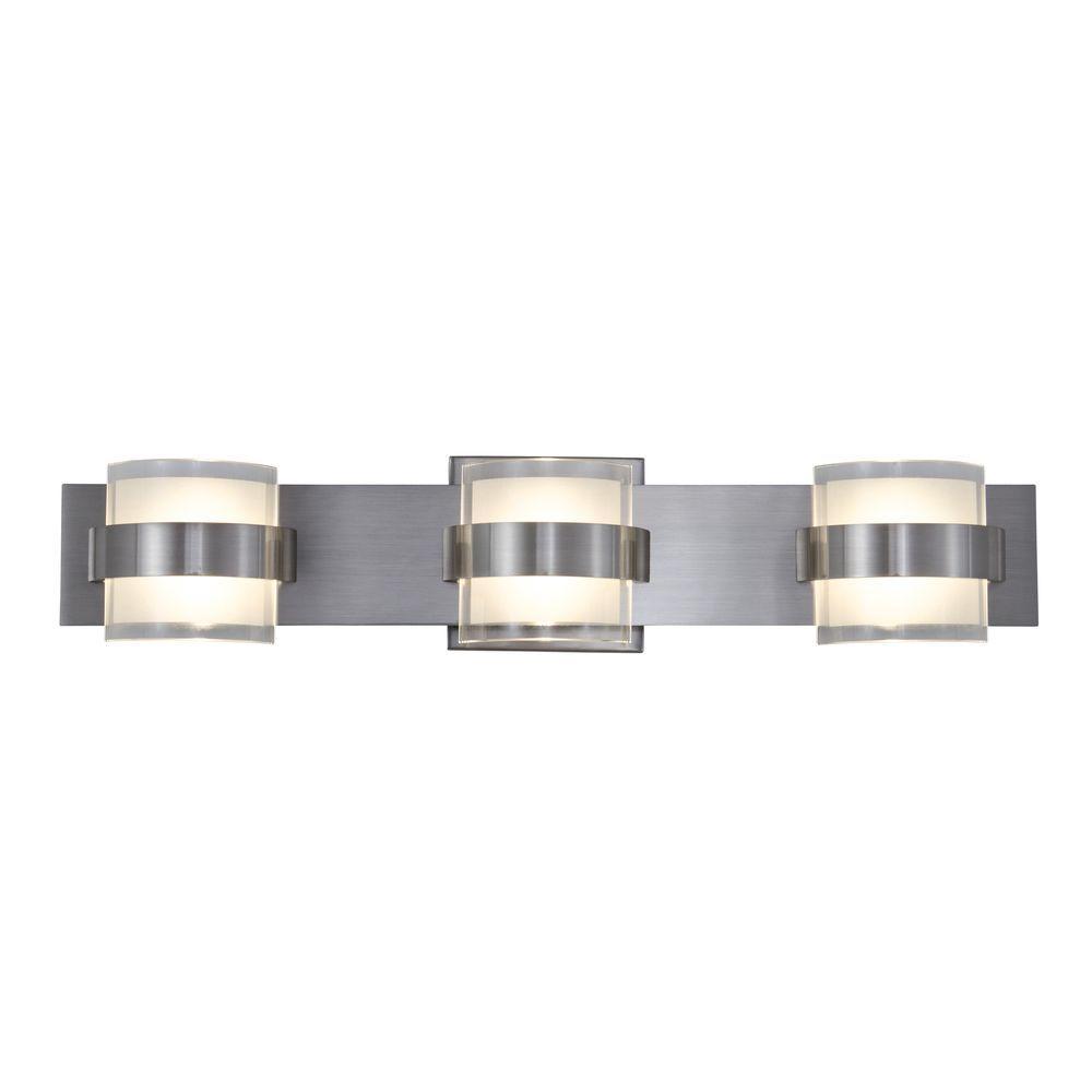 Rogue Decor Restraint 3-Light Polished Chrome LED Bath Vanity Light