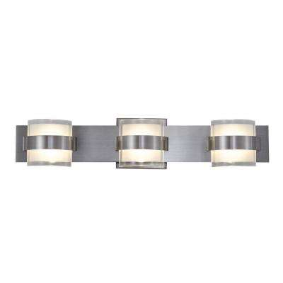 Rogue Decor Restraint 3-Light Polished Chrome LED Bath Vanity Light