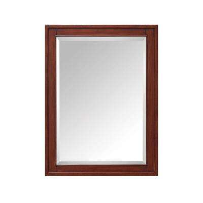 Madison 24 in. W x 32 in. H x 5-1/10 in. D Framed Surface-Mount 3-Shelf Bathroom Medicine Cabinet in Tobacco