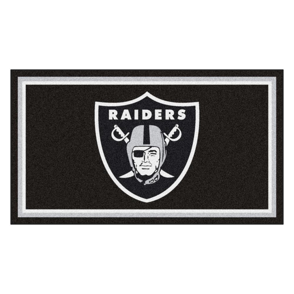 NFL - Las Vegas Raiders 3 ft. x 5 ft. Ultra Plush Area Rug