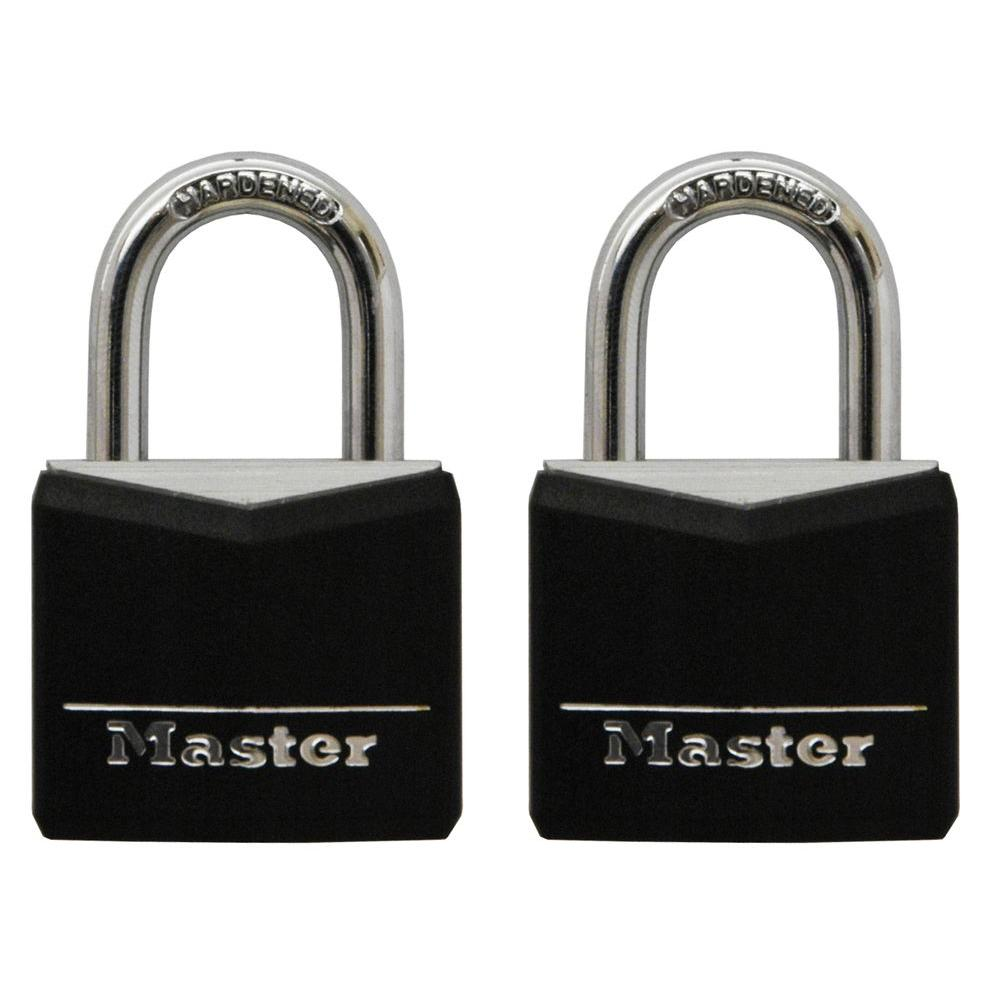 Master Lock 3/4 in. Vinyl Covered Solid Body Padlock (2-Pack)