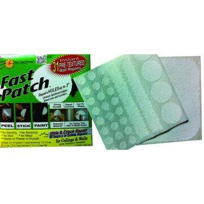 5-3/4 in. x 6 in. Fast Patch Self Adhesive Pre-Textured Wall Repair Patch Kit with 30 Small Patches (100-Pack)