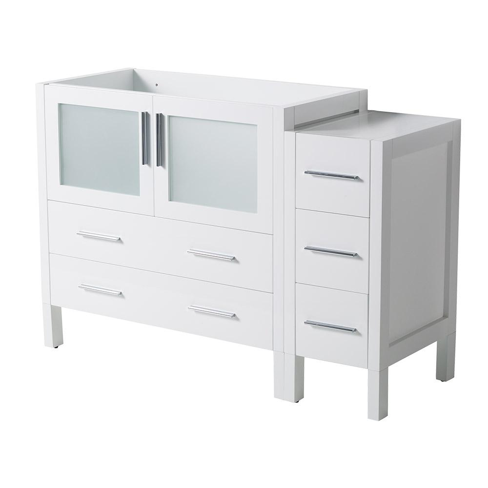 48 in. Torino Modern Bathroom Vanity Cabinet in White