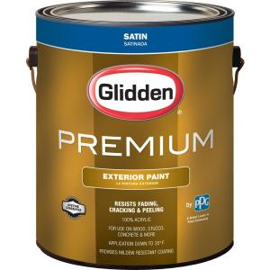 Glidden Premium 1 gal. Satin Latex Exterior Paint-GL6911-01 - The ...