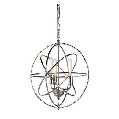 Vienna 3-Light Polished Nickel Pendant Lamp