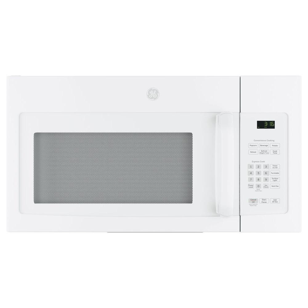 GE 30 in. 1.6 cu. Ft. Over the Range Microwave in White