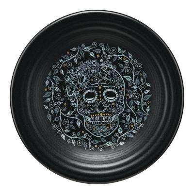 Black Skull and Vine Luncheon Plate