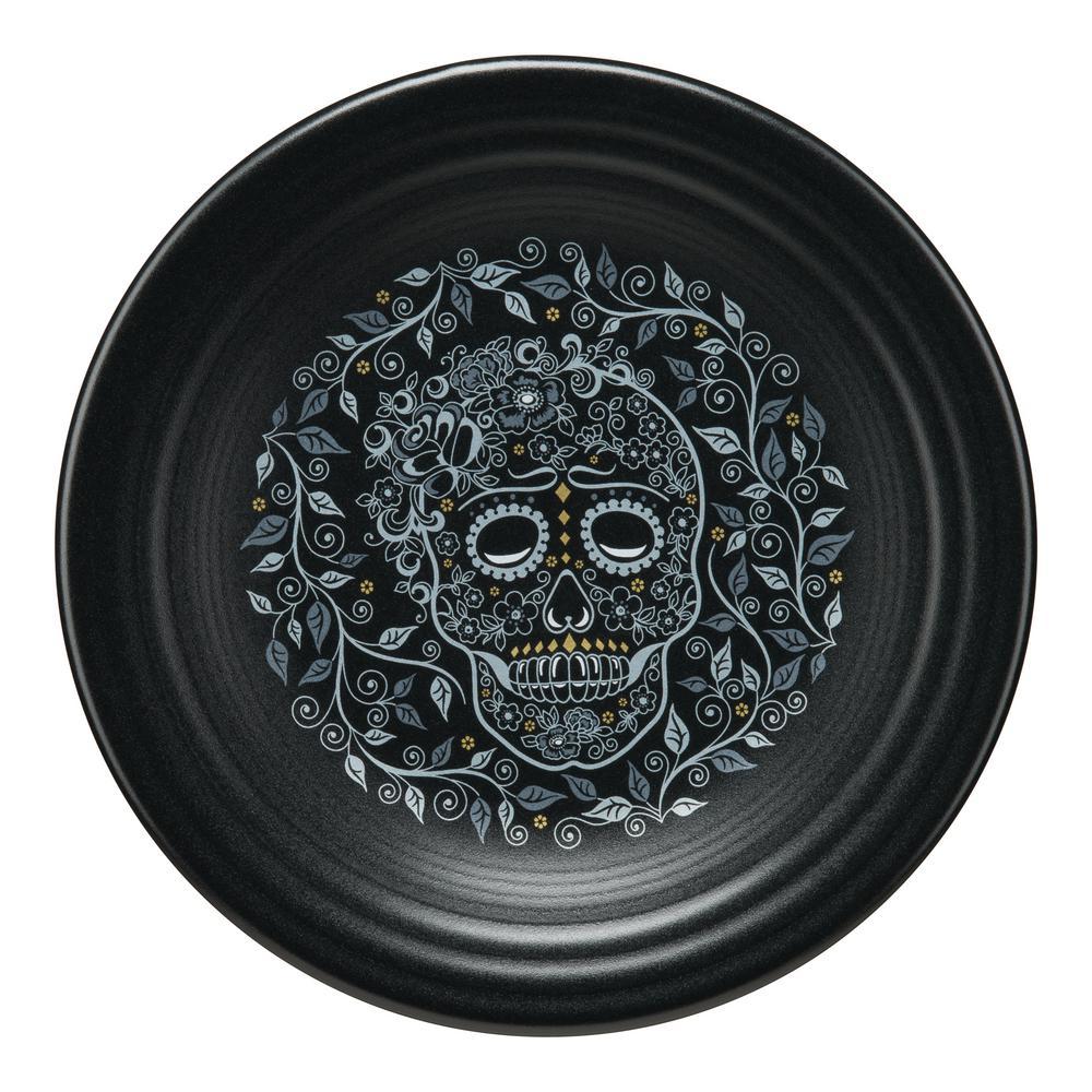 Fiesta Black Skull and Vine Luncheon Plate 46541590U
