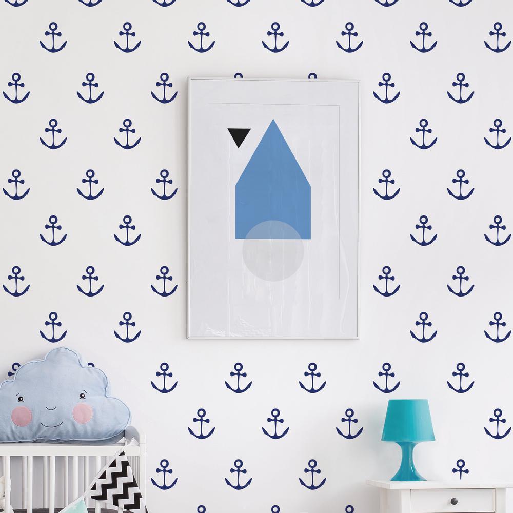 Adzif ''Anchors Aweigh!'' Kids Wall Decal (2-Sheets) FM063-AJV5