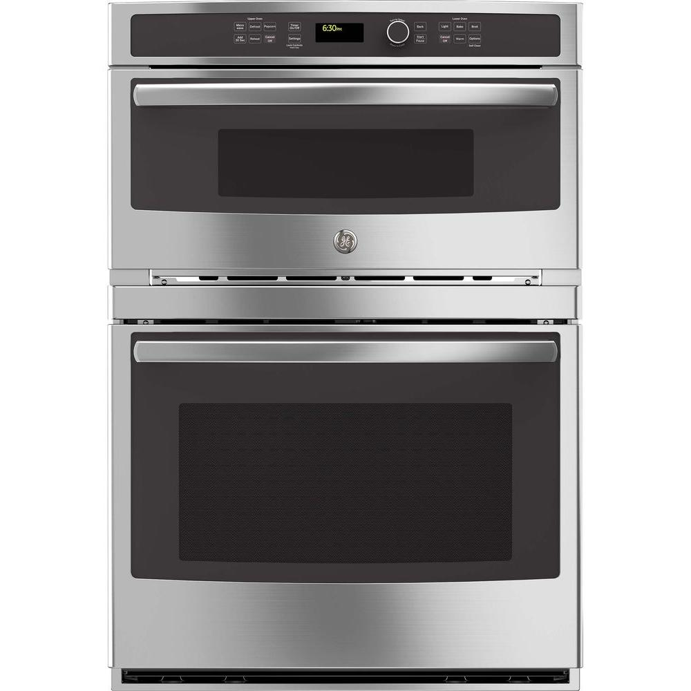 Uncategorized Best Wall Oven Microwave Combo ge 30 in double electric wall oven with built microwave stainless steel jt3800shss the home depot