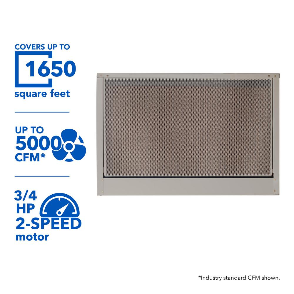 MasterCool 5000 CFM 240-Volt 2-Speed Down-Draft Roof 8 in. Media Evaporative Cooler for 1650 sq. ft. (with Motor)