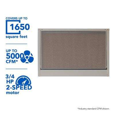 5000 CFM 240-Volt 2-Speed Down-Draft Roof 8 in. Media Evaporative Cooler for 1650 sq. ft. (with Motor)