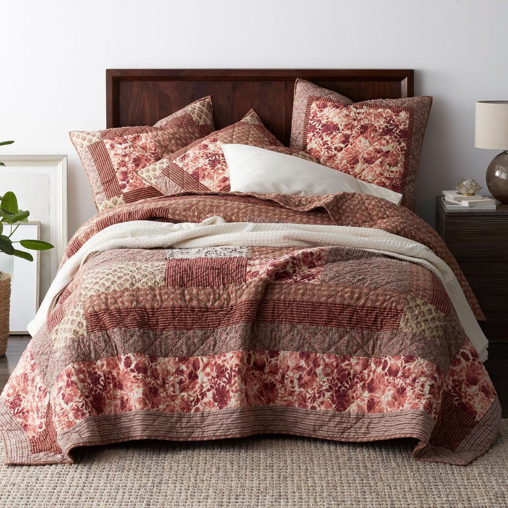 Marielle Floral Cotton Patchwork Quilt