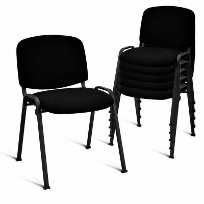 Conference Black Elegant Design Office Waiting Room Guest Reception Chair (Set of 5)