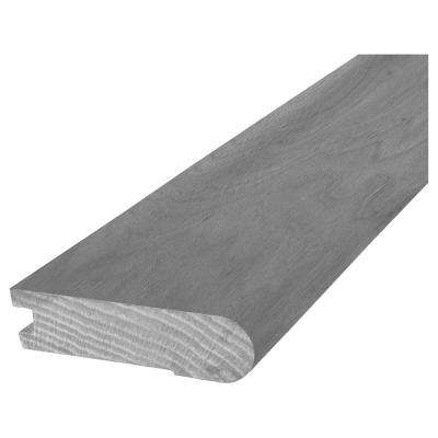 Hickory Charcoal 13/16 in. Thick x 3 in. Wide x 84 in. Length Hardwood Flush Stair Nose Molding