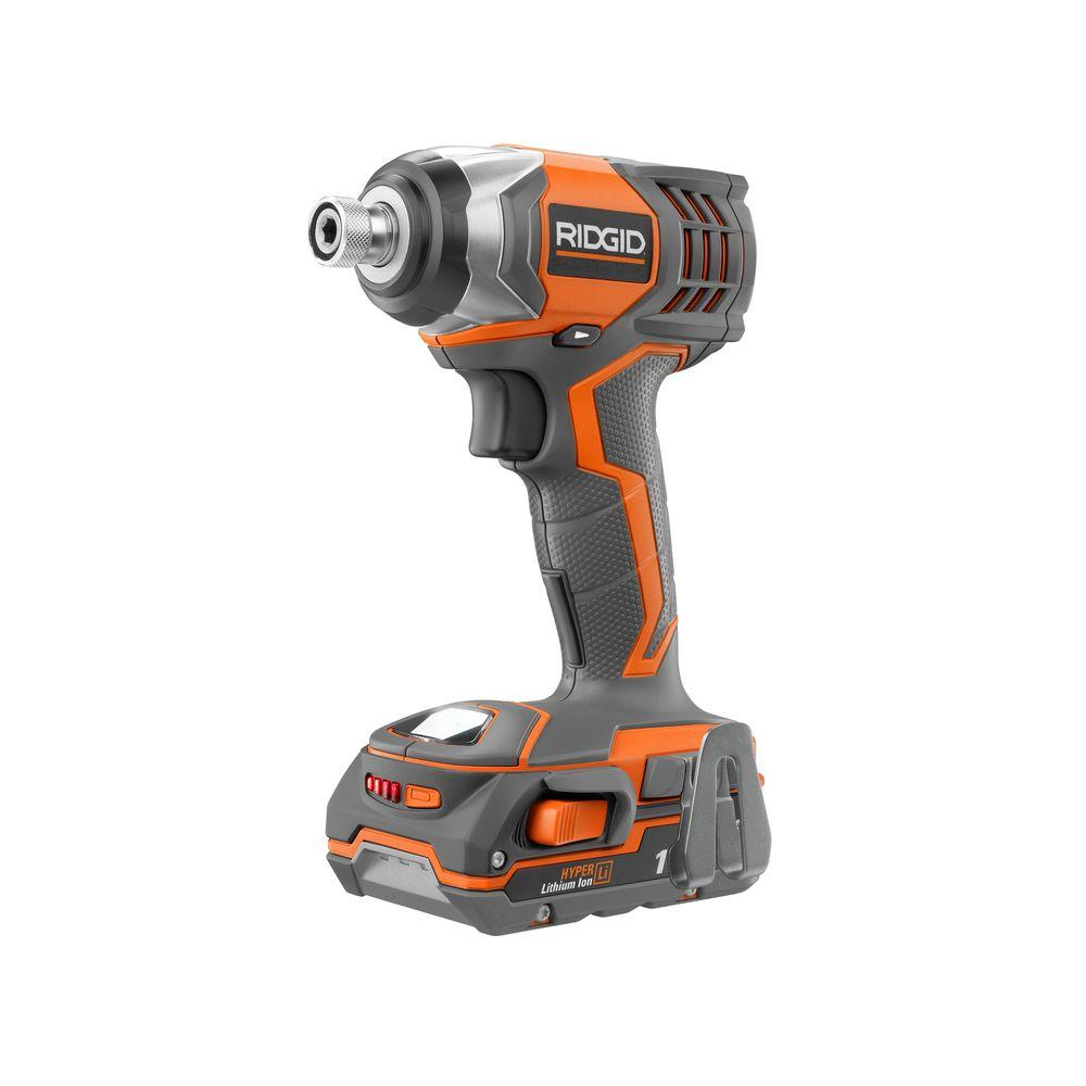 RIDGID X4 Reconditioned 18-Volt Lithium-Ion 1/4 in. Cordless Impact Driver Kit