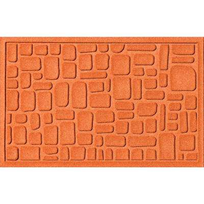 Stone Path Orange 24 in. x 36 in. Polypropylene Door Mat