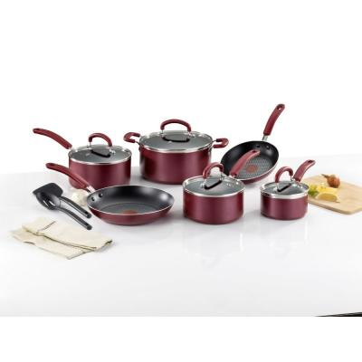 Color Luxe Ruby 12-Piece Non-stick Cookware Set