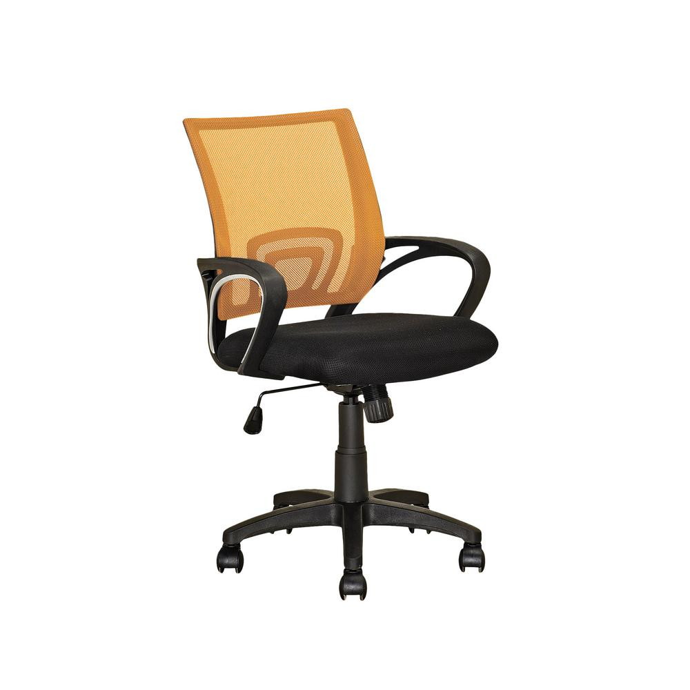 Workspace Black and Orange Mesh Back Office Chair