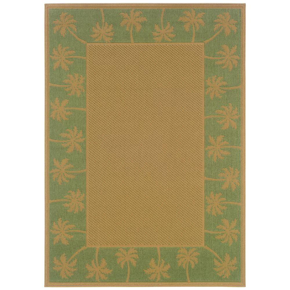 Oriental Weavers Nevis Passage Green/Beige 2 ft. 5 in. x 4 ft. 5 in. Accent Rug