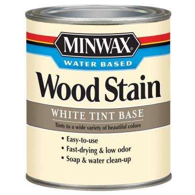 1 qt. White Tint Water Based Interior Wood Stain (4-Pack)