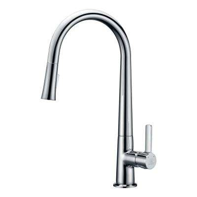 Orbital Single-Handle Pull-Down Sprayer Kitchen Faucet in Polished Chrome