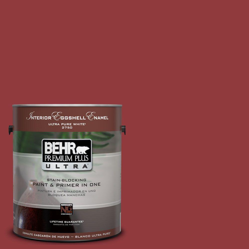 BEHR Premium Plus Ultra 1-Gal. #UL110-18 Cherry Tart Interior Eggshell Enamel Paint