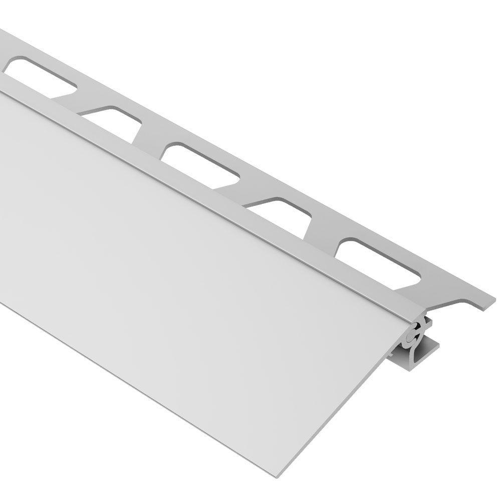 Aluminum Tile Trim Mail: Schluter Reno-V Satin Anodized Aluminum 1/2 In. X 8 Ft. 2