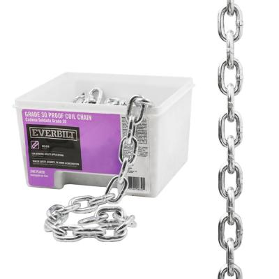 3/8 in. x 30 ft. Grade 43 Zinc Plated Steel High Test Chain