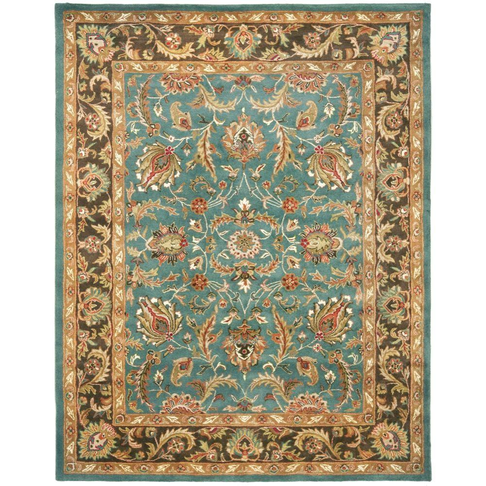 Heritage Blue/Brown 5 ft. x 8 ft. Area Rug
