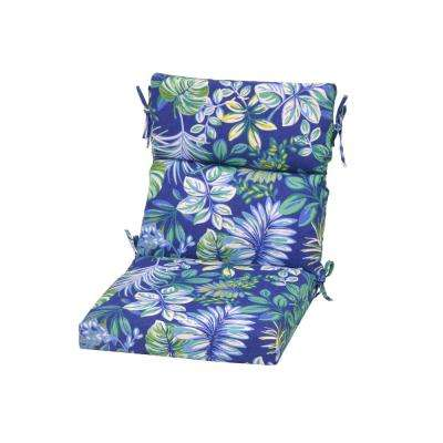 Seaglass Tropical Outdoor High Back Dining Chair Cushion
