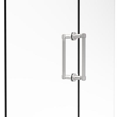 Contemporary 8 in. Back-to-Back Shower Door Pull in Satin Chrome