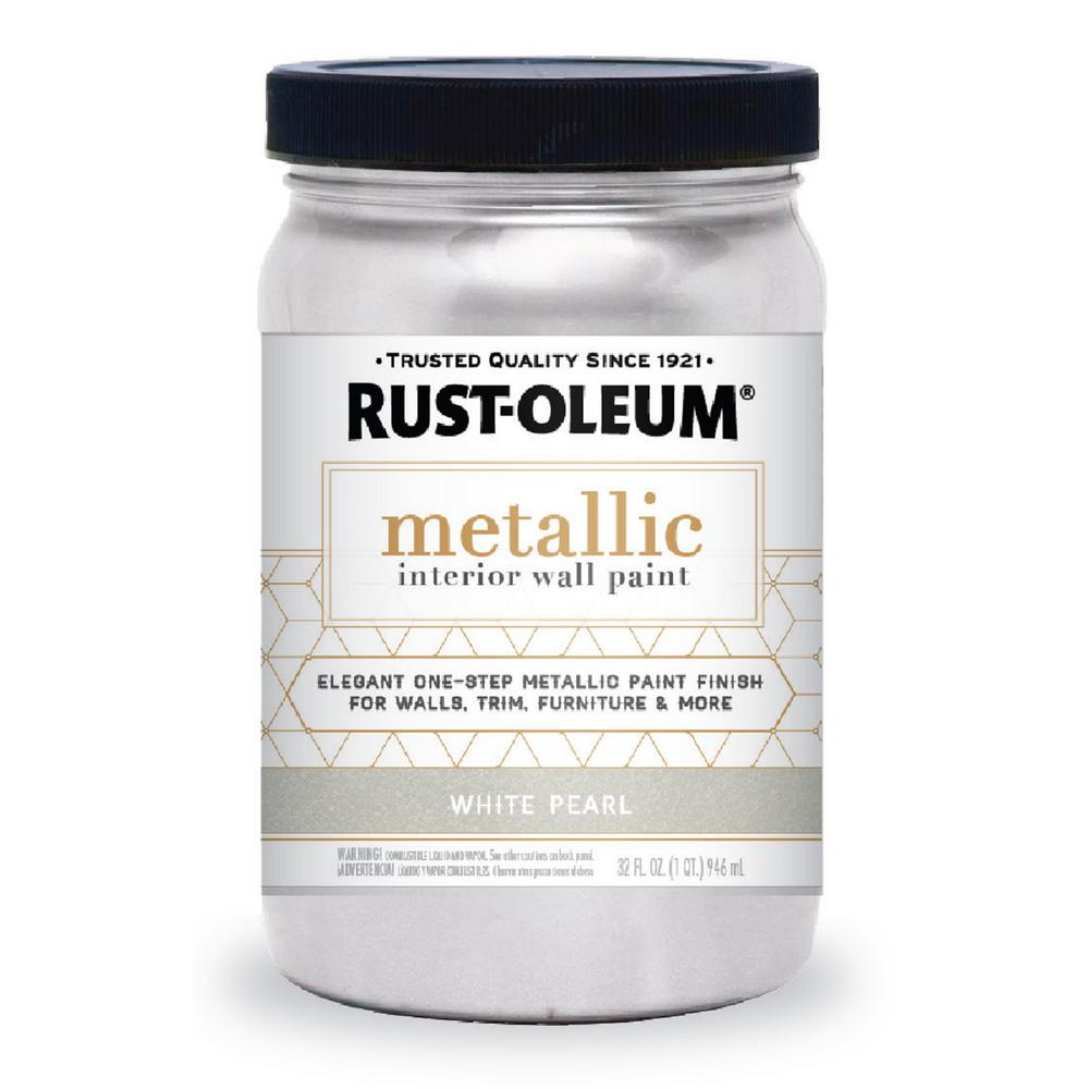 Rust-Oleum Specialty 1 qt. White Pearl Metallic Interior Paint (2-Pack)
