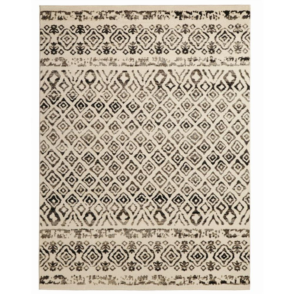 Fabulous Home Decorators Collection Tribal Essence Ivory 5 ft. x 7 ft. Area  HR76