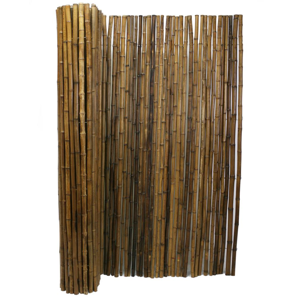 Backyard X Scapes Rolled Bamboo Fencing backyard x-scapes 1 in. d x 6 ft. h x 8 ft. w carbonized natural