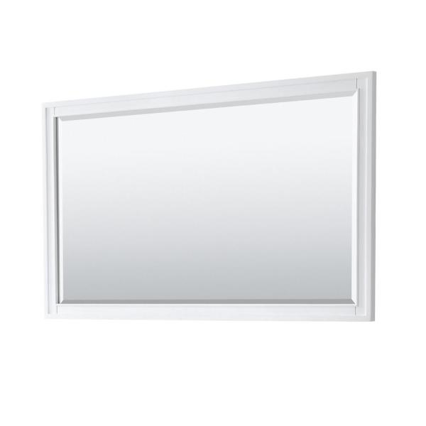 Margate 58 in. W x 33 in. H Framed Rectangular Bathroom Vanity Mirror in White