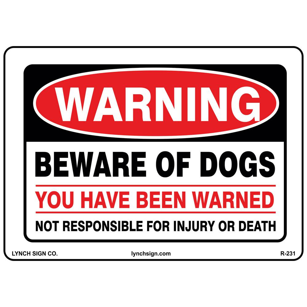 Warning Beware Of Dogs Sign Printed