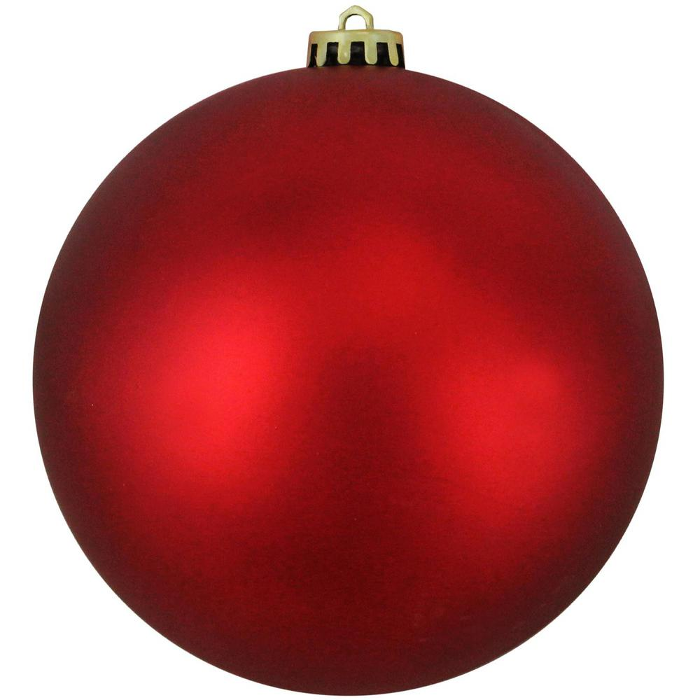 northlight matte red hot uv resistant commercial shatterproof christmas ball ornament