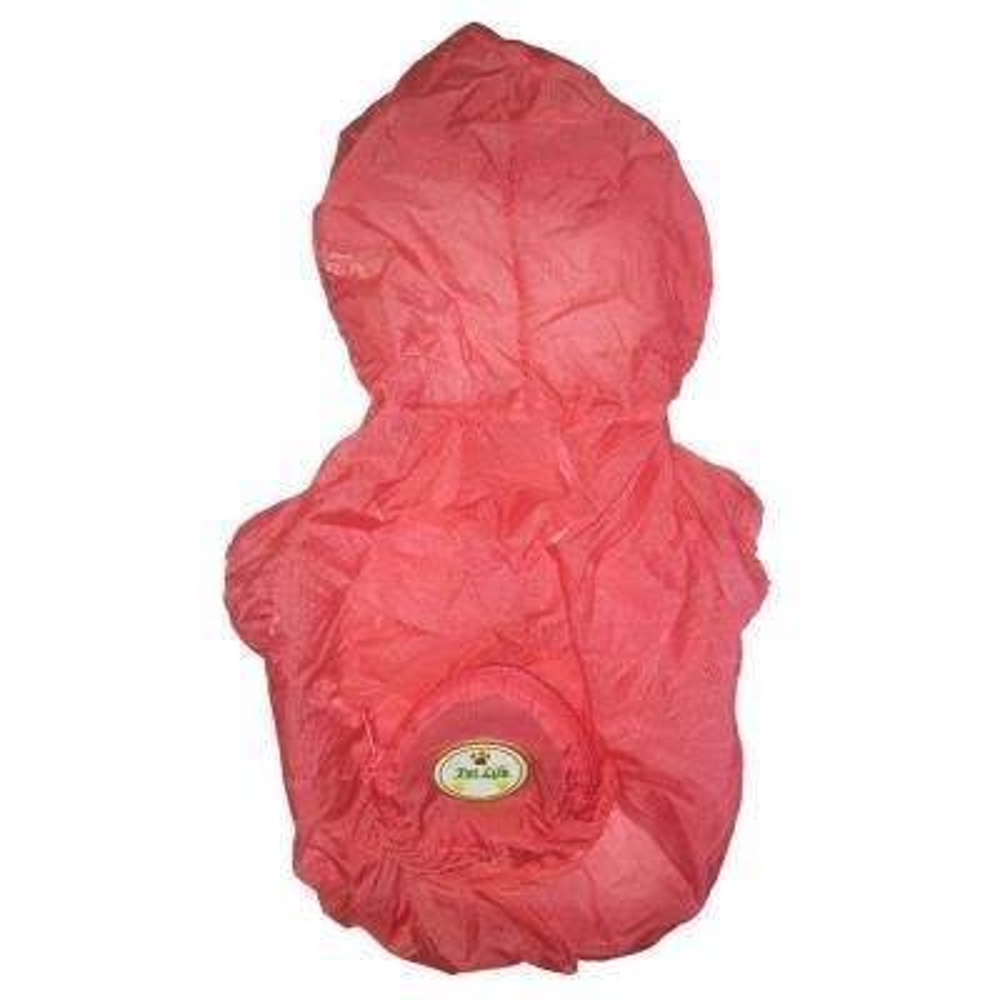 X-Small Pink the Ultimate Waterproof Thunder-Paw Adjustable Zippered Folding Travel Dog Raincoat