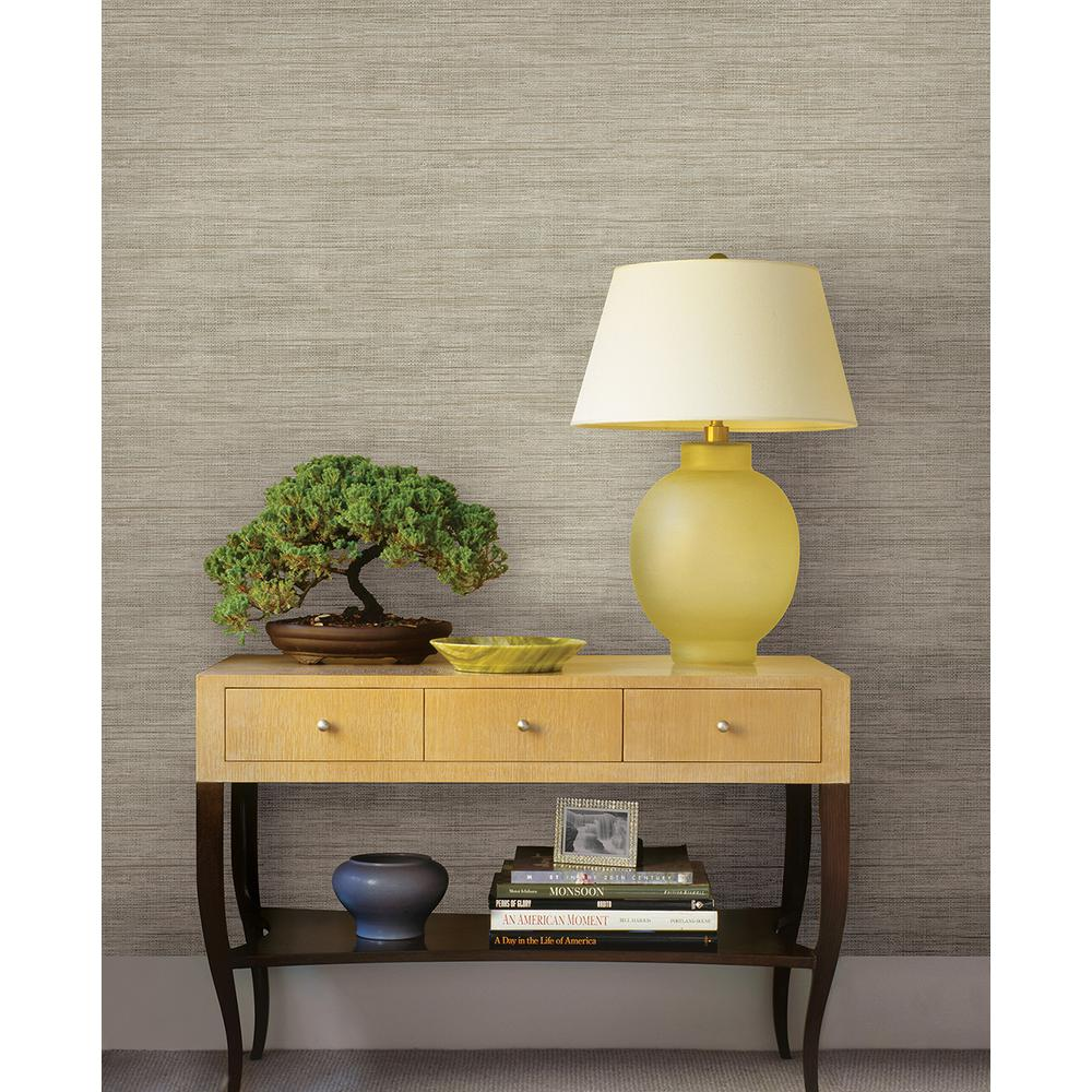 Painting over grasscloth wallpaper - Brewster Woven Beige Faux Grasscloth Wallpaper